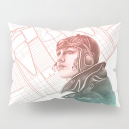 Amelia Earhart Courageous Adventurer Pillow Sham