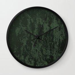 Velvet in Green Wall Clock