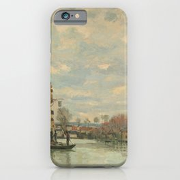Alfred Sisley - Flood at Port-Marly iPhone Case