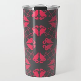 Flamingo Hearts Travel Mug