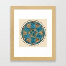 PATTERN MANDALA Framed Art Print