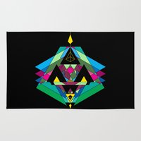 gnome Area & Throw Rugs featuring GNOME [ black ] by 23rd Dimension