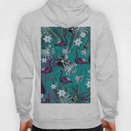 Tropical Flamingo Flower Jungle #6 #tropical #decor #art #society6 Hoody