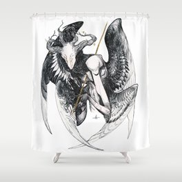 The Mourning Star Shower Curtain