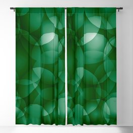 Dark intersecting green translucent circles in bright colors with a grassy glow. Blackout Curtain
