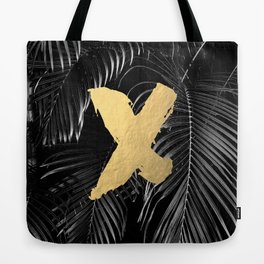 XO - gold on palm leaves Tote Bag