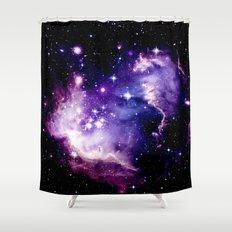 Galaxy .  Deep Purple & Blue Shower Curtain