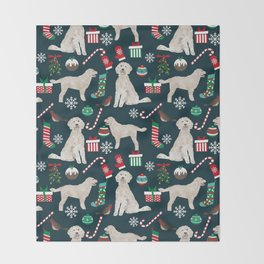 Golden Doodle unique christmas gifts for dog person dog breed pet portraits by pet friendly Throw Blanket