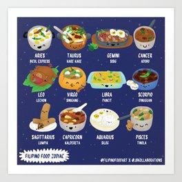 Filipino Food Zodiac Art Print