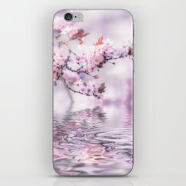Zen Style Cherry Blossom and Water iPhone Skin