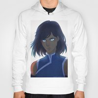 the legend of korra Hoodies featuring Korra by Nymre
