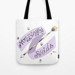 Non-Binary Pride Arrow Tote Bag