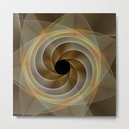 Artistic movement, fractal abstract Metal Print