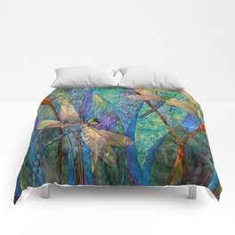 Colorful Dragonflies Comforters