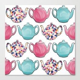 Colourful Teapots Canvas Print