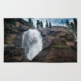 Waterfalls In The Rocky Mountain Rug