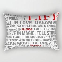 All about life Rectangular Pillow