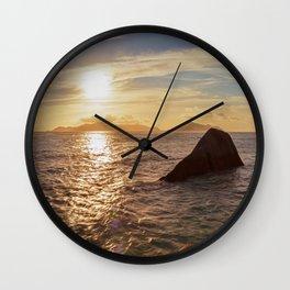Seychelles Panorama Wall Clock