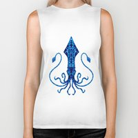 squid Biker Tanks featuring Squid by Bahadır Tez