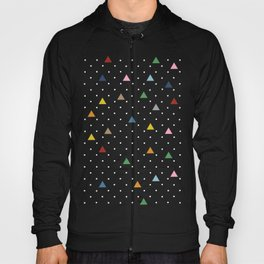 Pin Point Triangles Black Hoody