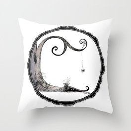 'Think I'll just stay in today' - Familiar and Friend Throw Pillow