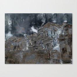 Grand harbour hotel Valletta Canvas Print