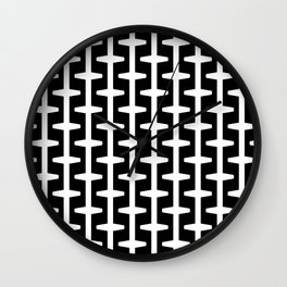 Geometric Pattern 207 (black white) Wall Clock