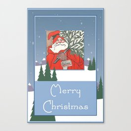 A Traditional Merry Christmas Canvas Print