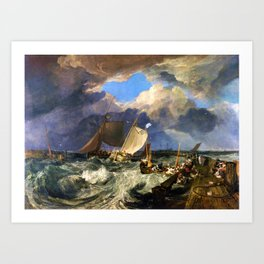 Calais Pier - joseph mallord william turner Art Print