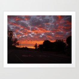 Sunset on LA Blvd. Art Print