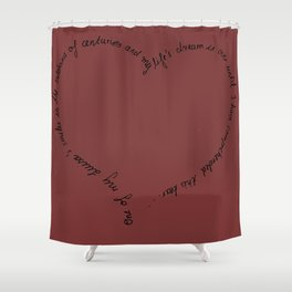 Intrigue and Love Shower Curtain