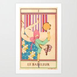 Tarot Card-The Juggler-Le Bateleur Art Print