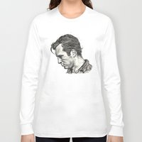 kerouac Long Sleeve T-shirts featuring Exploding Like Spiders Across The Stars by Adam McDade
