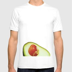 Avocado Mens Fitted Tee MEDIUM White