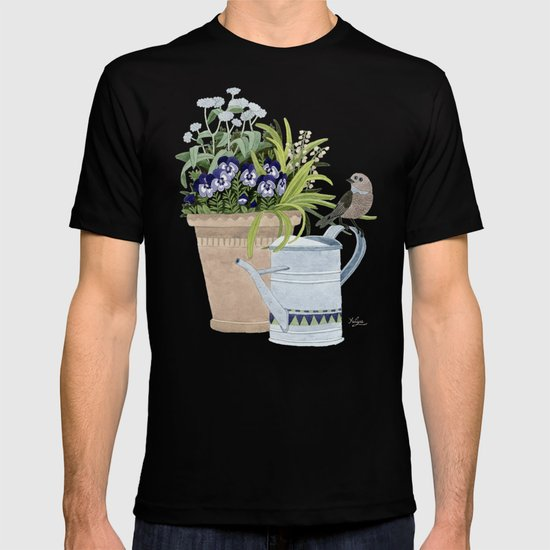 Pansies in a pot T-shirt