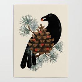 Bird & Berries Poster
