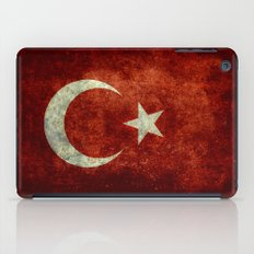 The National flag of Turkey - Distressed worn version iPad Case