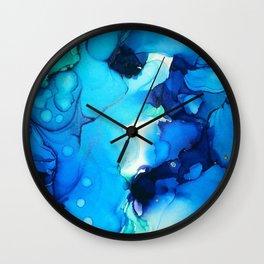 B L U E S Wall Clock