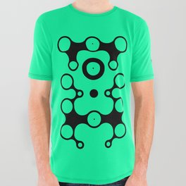 Lichtoglyphs - black on green All Over Graphic Tee