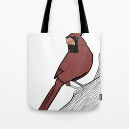 Elly the Cardinal Tote Bag