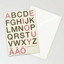 Helvetica Poster Cream Stationery Cards