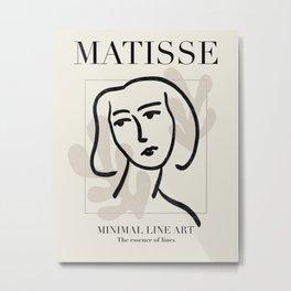 Matisse Inspired Woman Line Art Metal Print