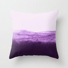 Amethyst Watercolor Crush Throw Pillow