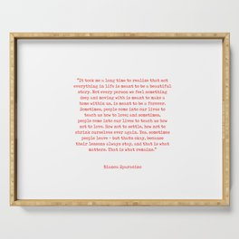 Typewriter Style Quote ((Bianca Sparacino)) Serving Tray