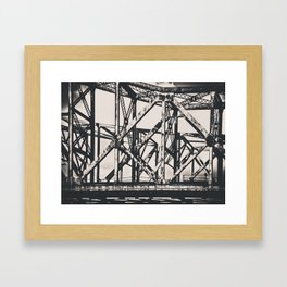 Faded Bridges Framed Art Print