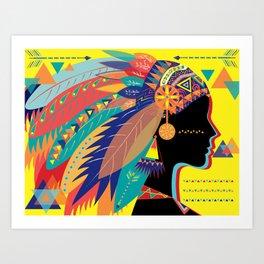 Native Indian Art Print