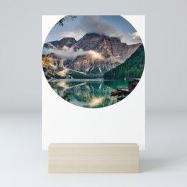 Italy mountains lake Mini Art Print