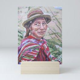 Woman in Peru Mini Art Print