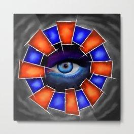 Salvenitus - watching eye Metal Print