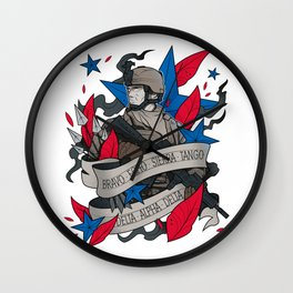 Mens Best Dad Military and Army Father's Day T-Shirt Wall Clock